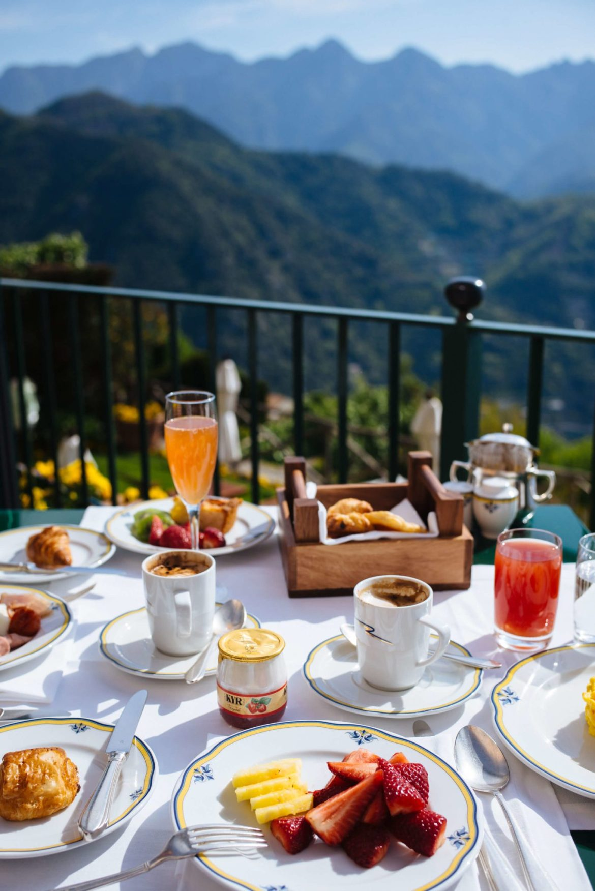 Breakfast with a view at Palazzo Avino in Ravello, Italy, The Taste Edit