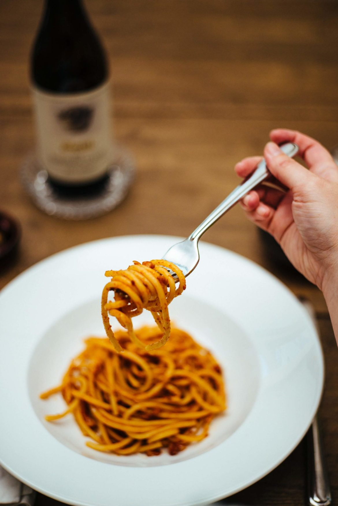 Eating pasta from rome and central italy The Taste Edit eats pasta all'amatriciana made with pancetta, bacon, or guanciale, tomatoes, and pasta