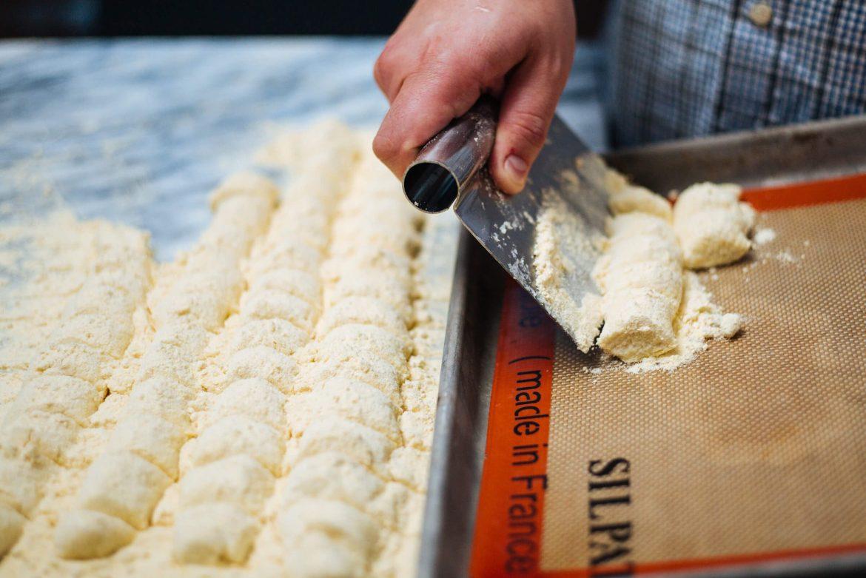 how to make Ricotta Gnocchi by cutting gnocchi