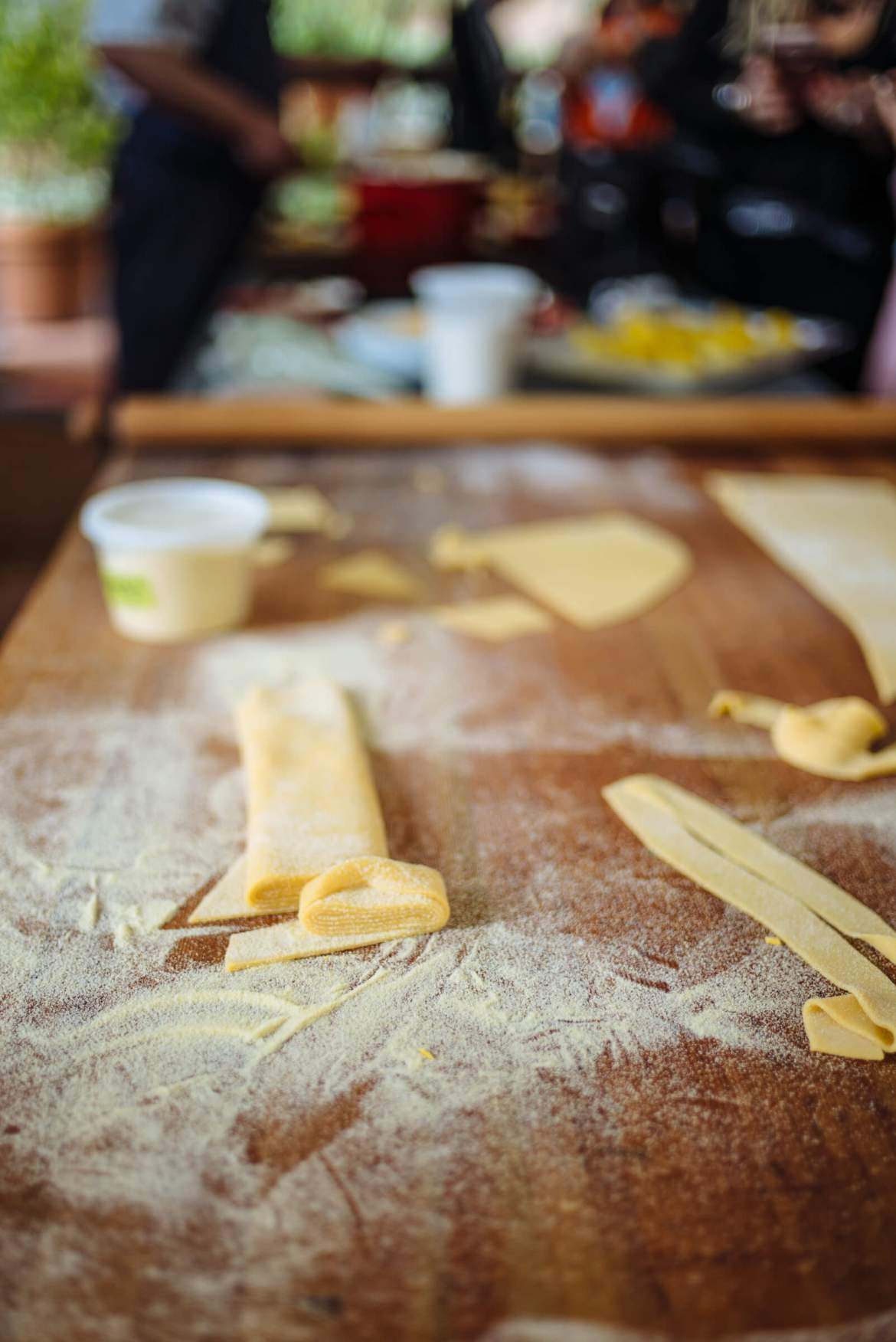 Michael Tusk of Quince's fresh pasta at his demo on how to make handmade pasta at Relais and Chateaux GourmetFest in Carmel