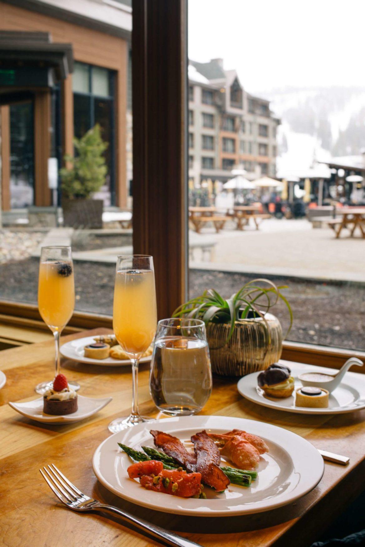 Brunch at Manzanita at The Ritz-Carlton Lake Tahoe CA overlooking the ski slopes, The Taste Edit