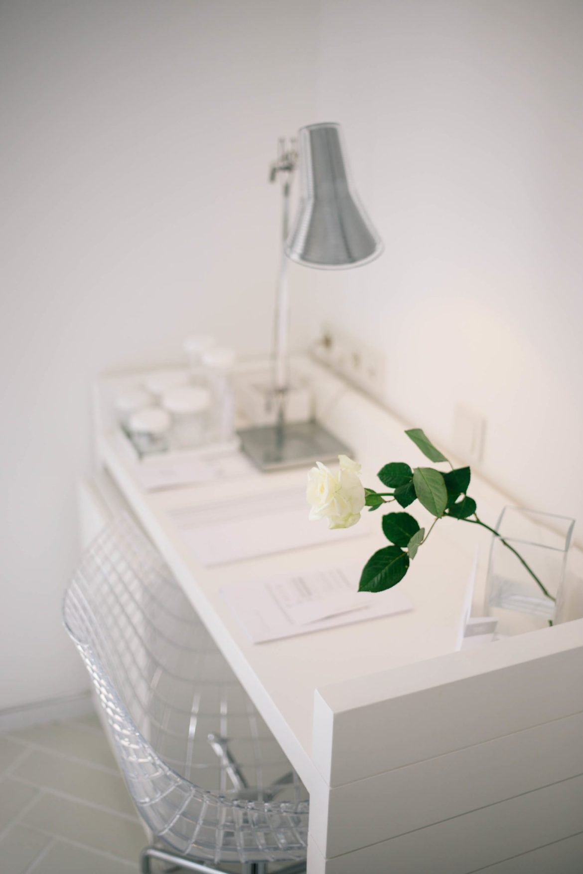 desk area in the room at Casa Angelina Lifestyle Hotel in Praiano Italy, The Taste Edit
