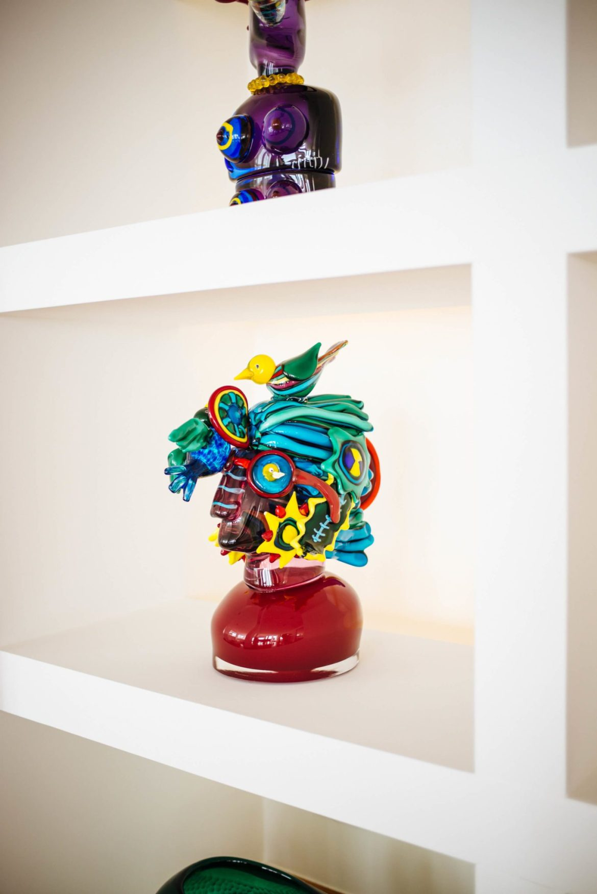 Glass art sculptures at Casa Angelina Lifestyle Hotel in Praiano Italy, The Taste Edit