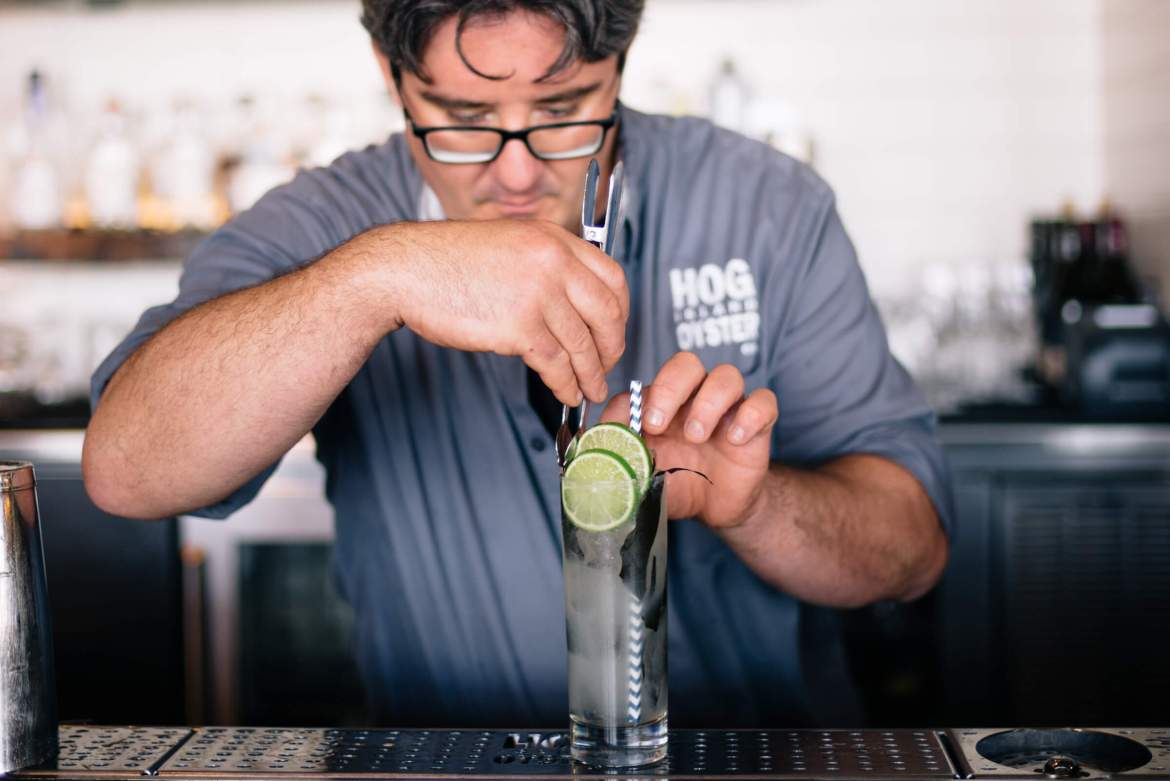 Make this perfect summer gin cocktail - the Hog Island Sea collins cocktail from San Francisco.
