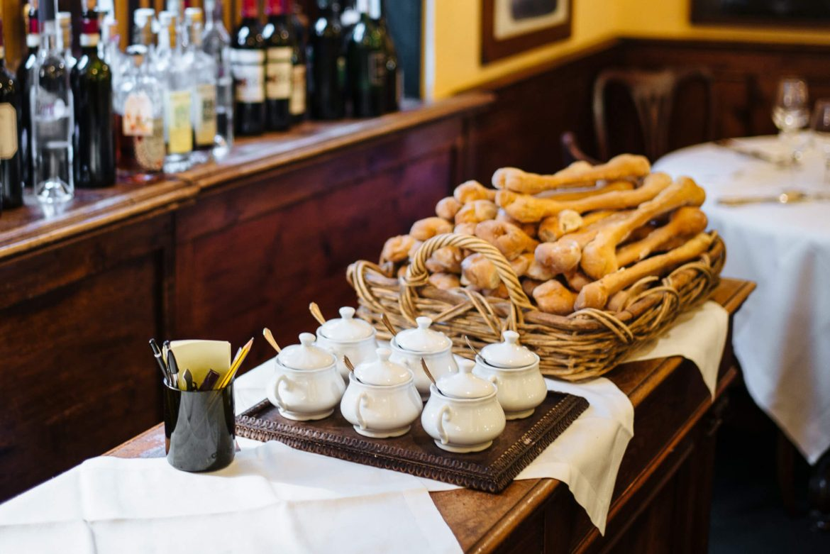 Bread shaped like bones at the best restaurant in florence, Ristorante Cibreo in Florence, The Taste Edit