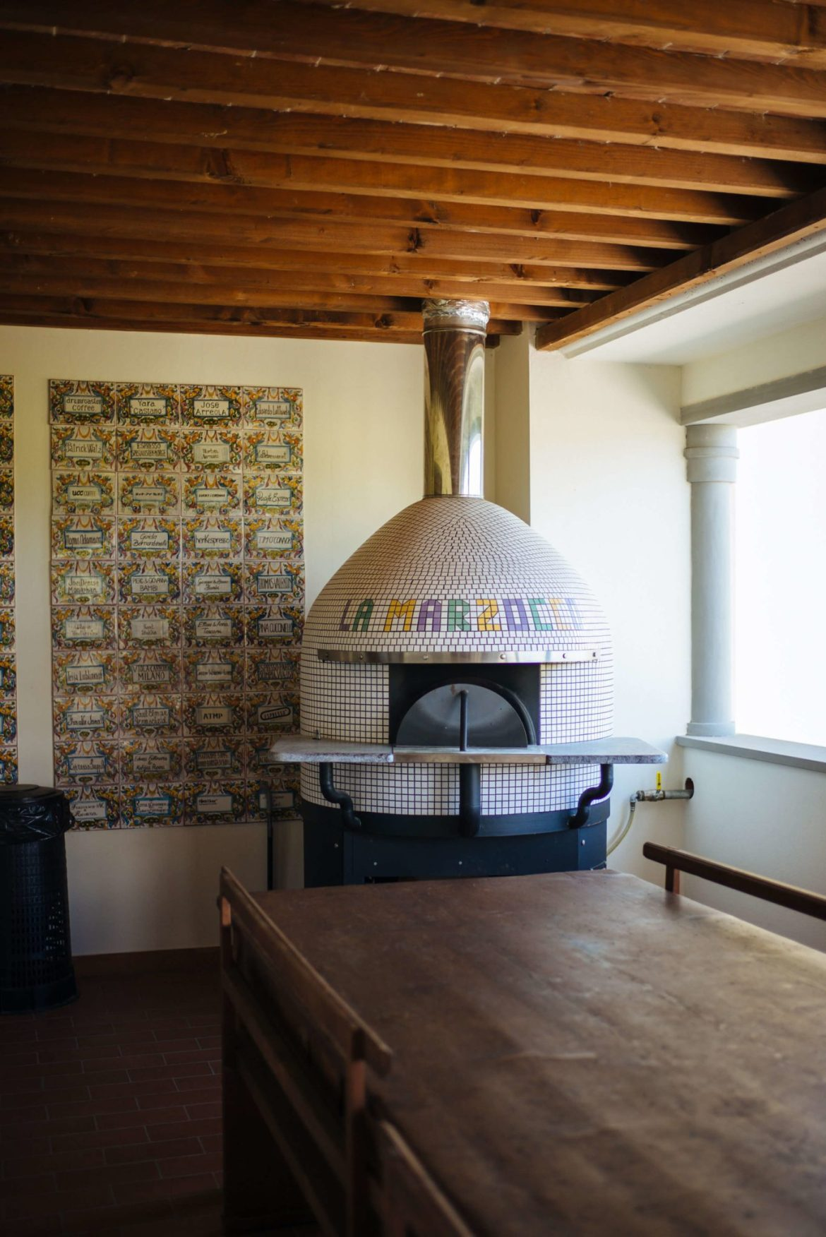 Pizza Oven at La Marzocco Factory Tour in Florence, The Taste Edit