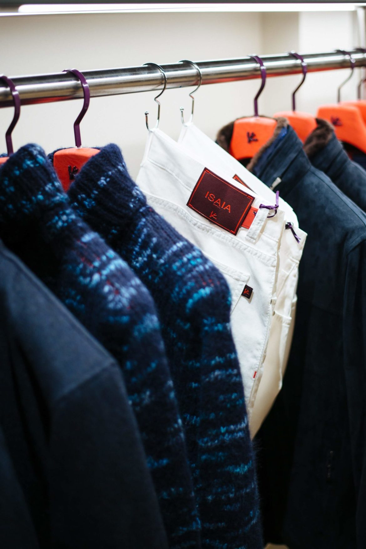 Suits and at Isaia San Francisco Store, Neapolitan Isaia suits in the historic VC Morris Frank Lloyd Wright San Francisco, The Taste Edit