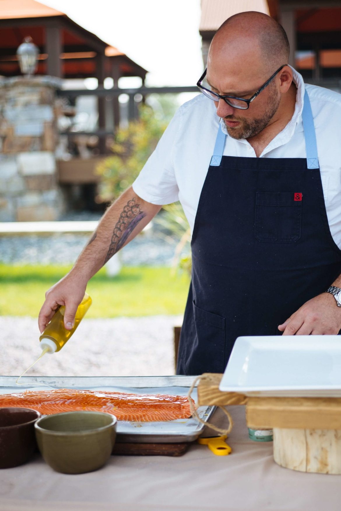 How to grill salmon with skin, oil is very important, how much time on the grill the resort at paws up, montana glamping, cookbook live, greg denton OX restaurant Portland, The Taste Edit