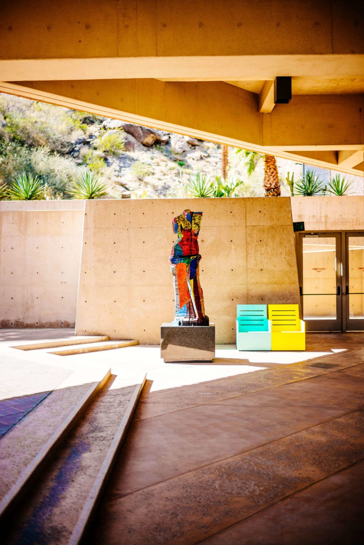 View this Chairs in the sculpture garden. If you love modern art you must visit the Palm Springs Art Museum, The Taste Edit