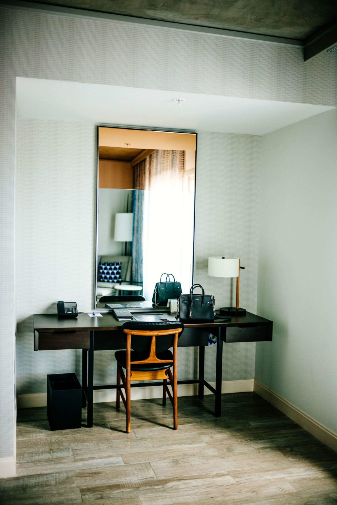 Check out this desk space and decor at the Kimpton Rowan Hotel in Palm Springs is a dessert retreat, The Taste Edit