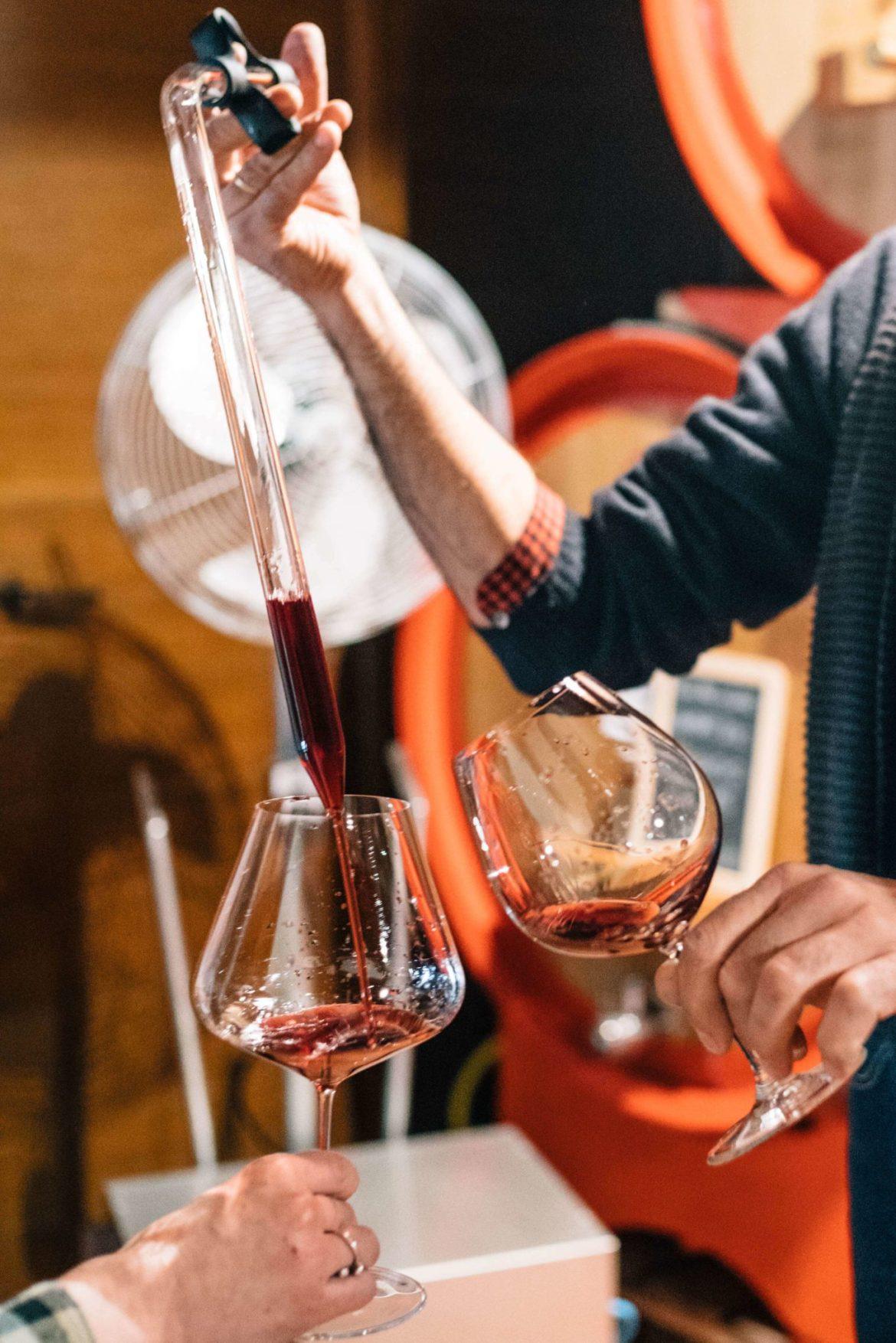 Taste Barolo wine in Piedmont. Winemaker Mario Fontana gives us a barrel tasting of his traditional and natural wine in Piedmont Italy