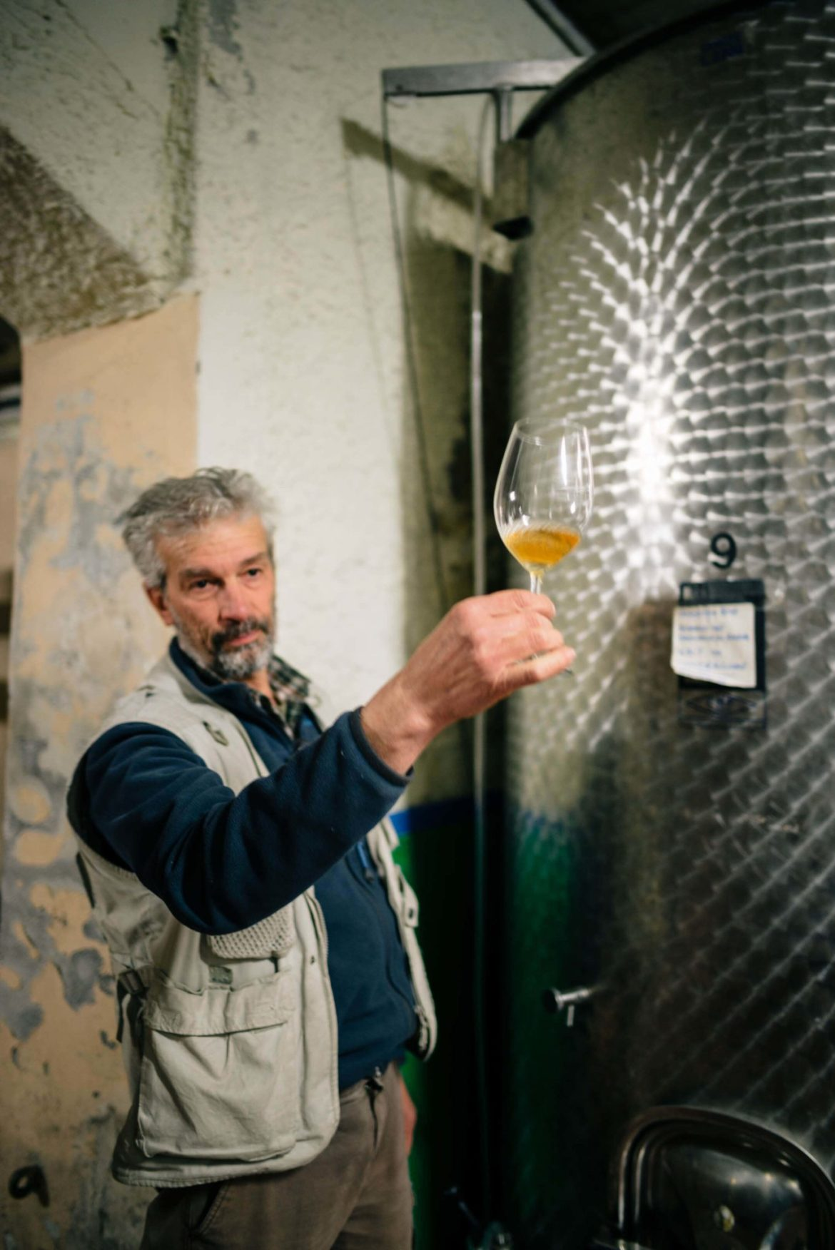 The Taste Edit, culinary photographers, recommends visiting this magical winery in northern Italy. Castello di Stefanago is near the town of Pavia in Lombardy. Winemaker and owner Giacomo Baruffaldi gives us a tour of the winery where they make Baruffaldi natural wines. Giacomo share the wine from steel tanks.