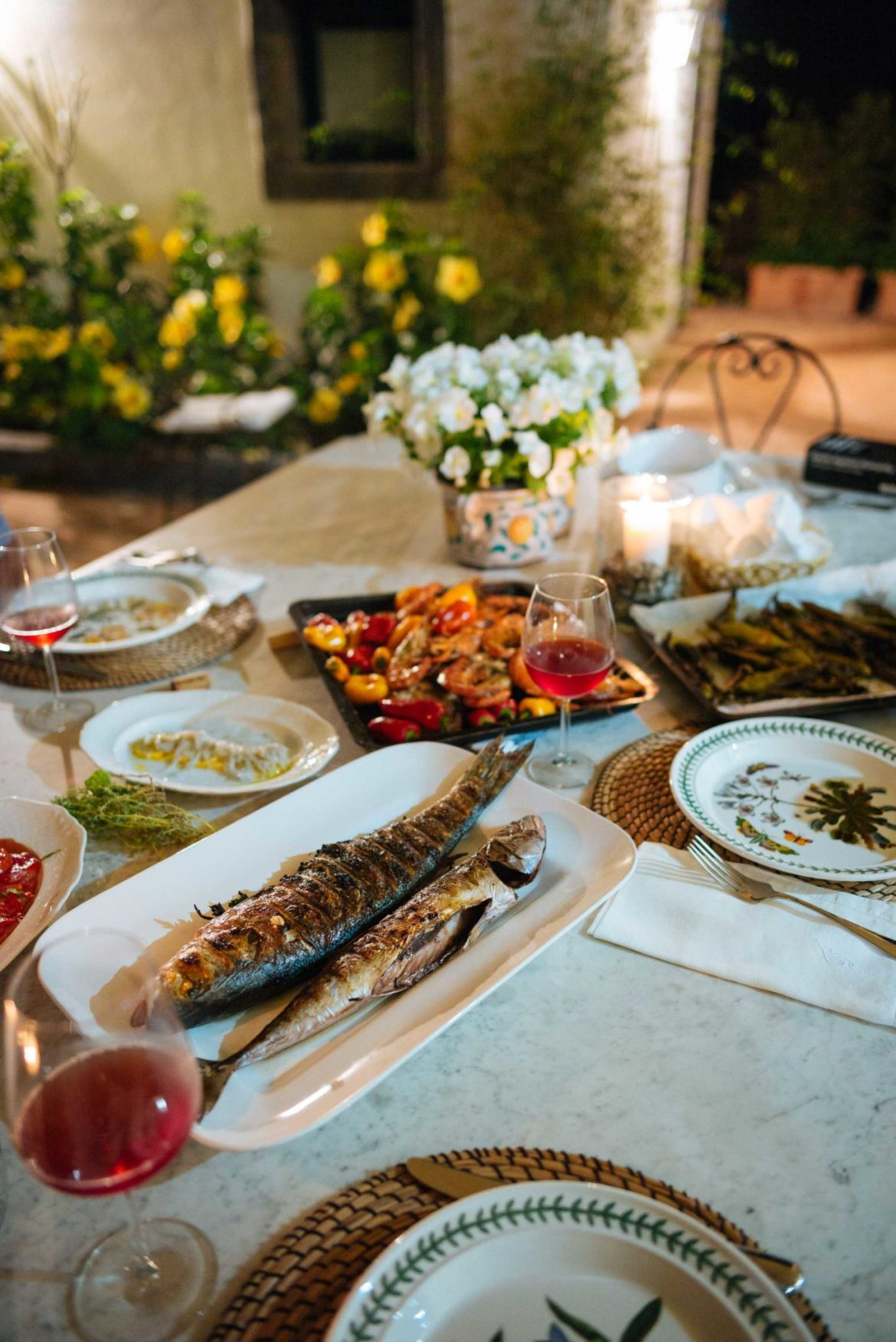 The Taste Edit grills dinner at our villa in Sicily Italy.