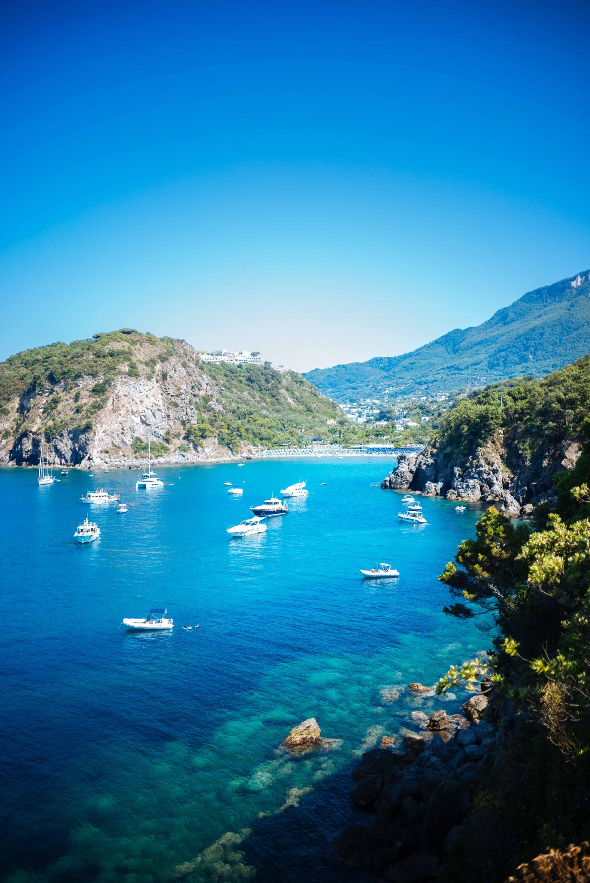 Beautiful coves are everywhere on Ischia in Italy