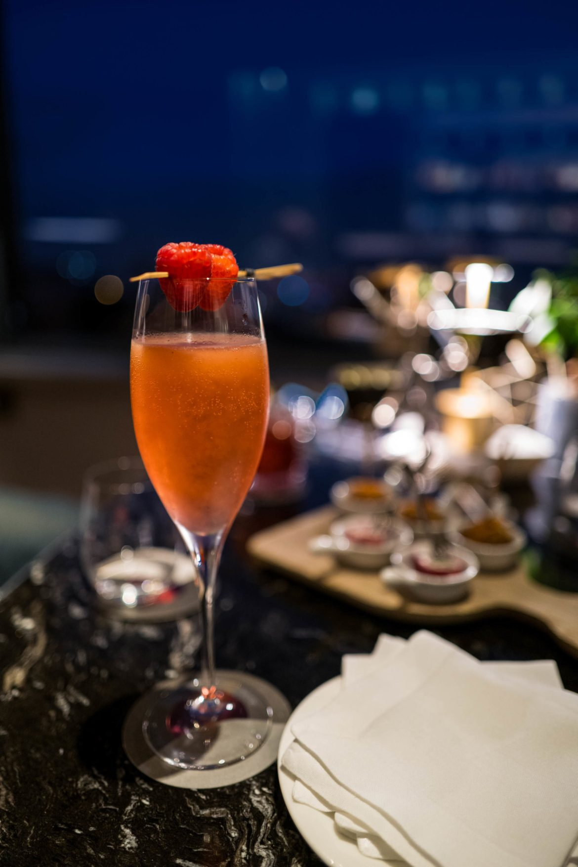 Garnished with a raspberry this cocktail is perfect for a fun cocktail at the Hotel Eden Rome, The Taste Edit #hotel #rome #italy #bar