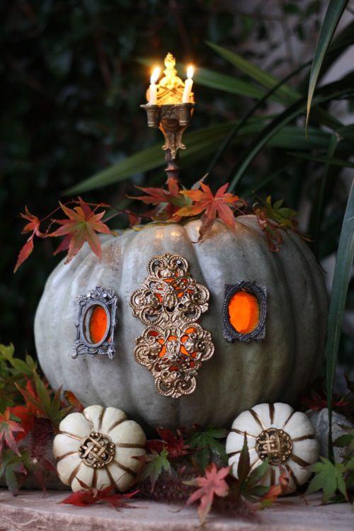 Unique Ideas For Decorating Pumpkins Tastefully Gothic
