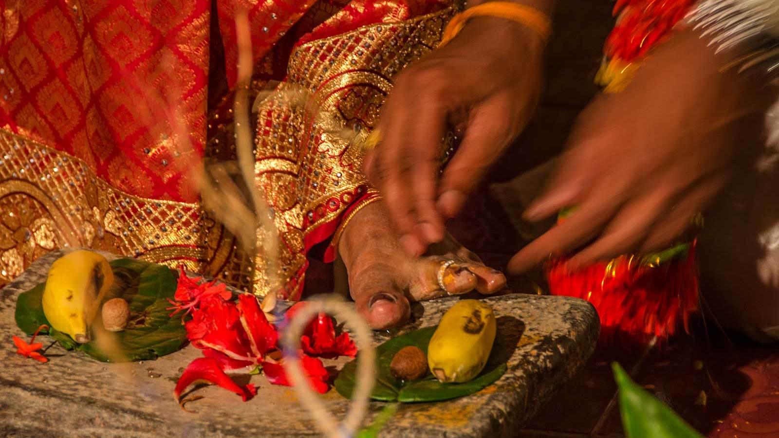 Hinduski ślub na Sri Lance.