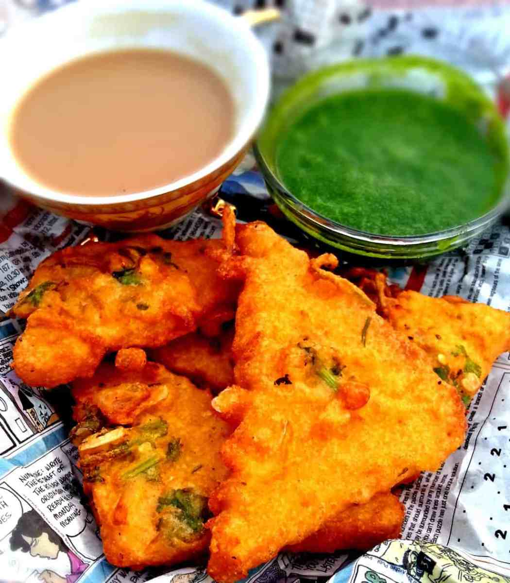 Garlic Bread Pakora -  Garlic Bread Fritters