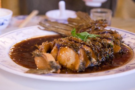Shiyuan Live Fish Restaurant - Pan fried carp