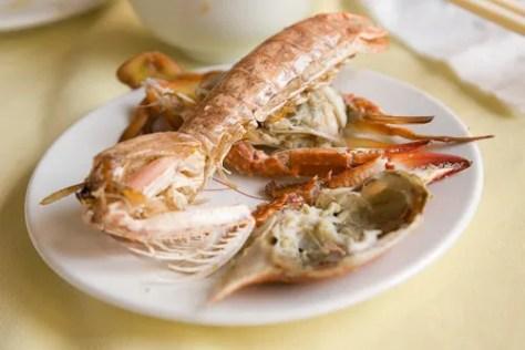 Mantis Shrimp on my Dinner Plate