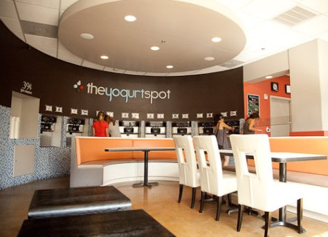 Yogurt Spot Interior - Austin, Texas