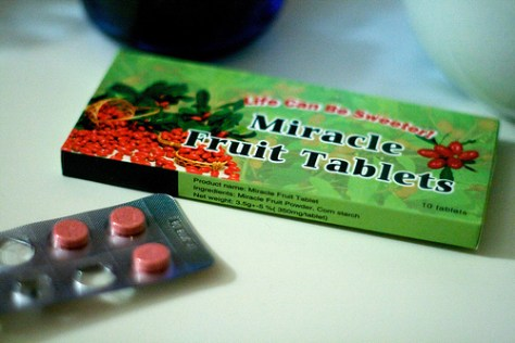 "Miracle Berry based ""Mysterious Fruit Tablet"""