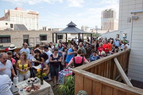 Austin Cupcake Smackdown - rooftop terrace