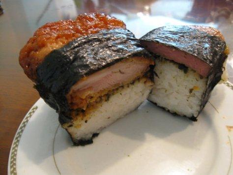 Chicken Musubi and Spam Musubi