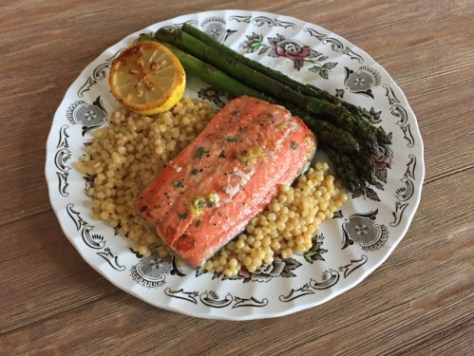 Salmon with charred lemon from Plated