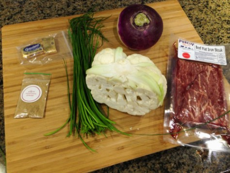 Ingredients from Plated - Steak with Cauliflower
