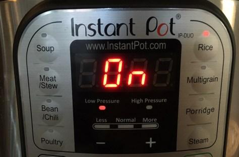Instant Pot control pad