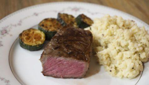 sousvide NY strip beef steak