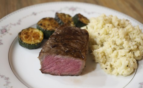 sousvide NY strip beef steak