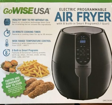 air fryer advertisement GoWISE