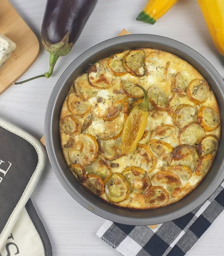 Огретен с тиквички, патладжан и синьо сирене / Blue Cheese, Zucchini & Eggplant Gratin