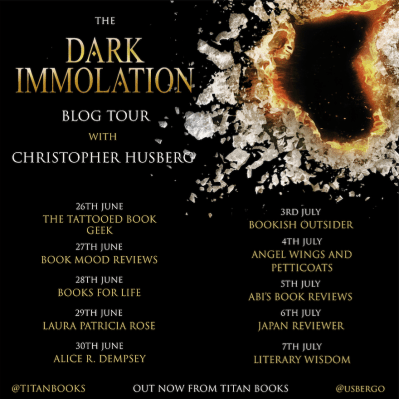 Dark Immolation Blog tour banner