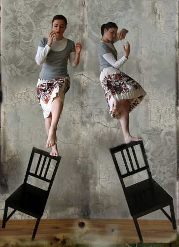 woman balance