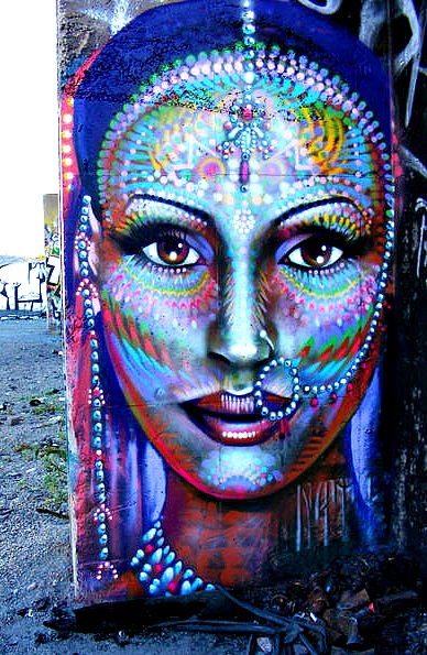Indian woman street art