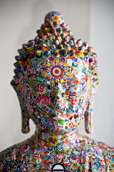 Gonkar Gyatso's pop culture Buddha statue, photographed by Rainer Hosch