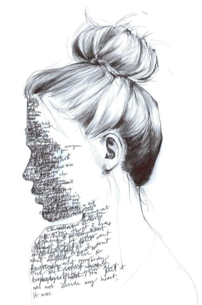 writing on face