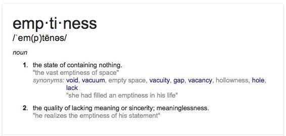emptiness definition