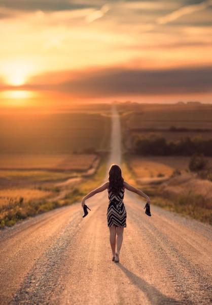 path woman