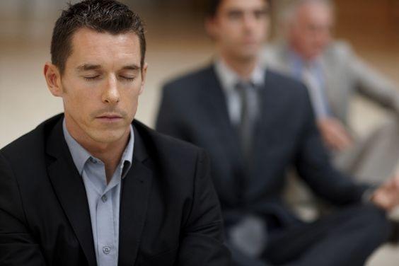 white dude meditating