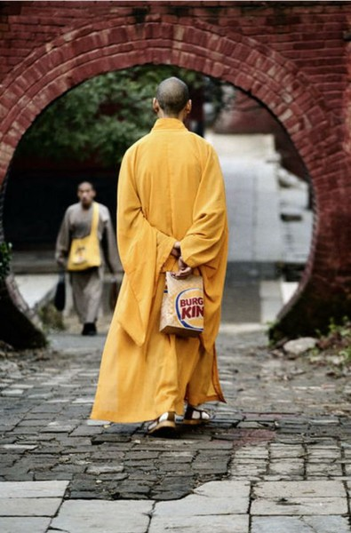 buddhist and burger king