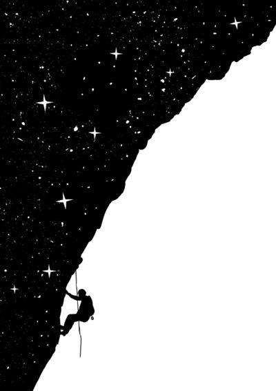 Artwork climbing stars