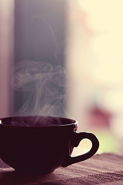 coffee with steam rising