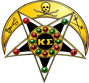 The Badge of Kappa Sigma, often called the Star and Crescent due to its shape.