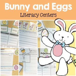 Easter literacy centers