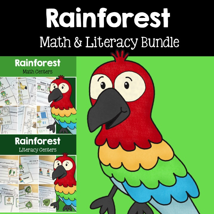 rainforest math and literacy bundle