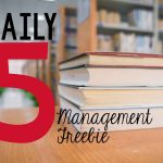 Daily Five Management Freebie